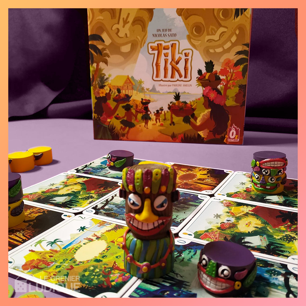 Tiki jeu de société abstrait